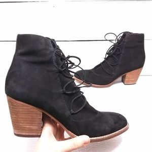 Sam Edelman Anthro Millard Lace Up Bootie size 10